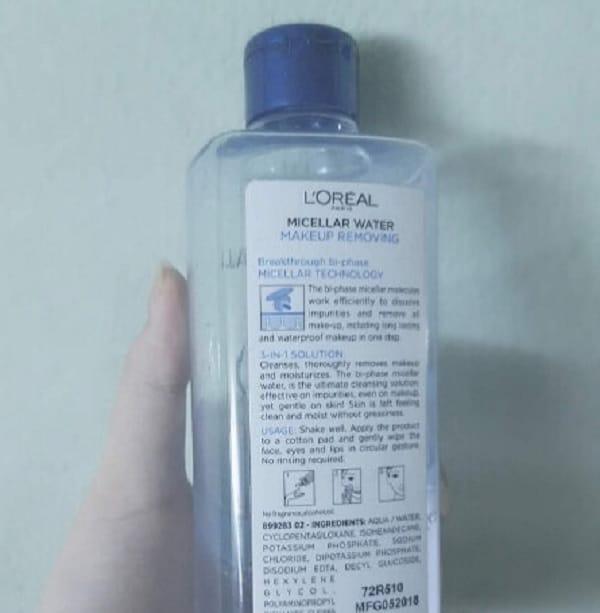 Nên sử dụng nước tẩy trang L'Oreal 3 In 1 Micellar không? Sử dụng nước tẩy trang nào tốt nhất hiện nay? Nước tẩy trang L'Oreal 3 In 1 Micellar