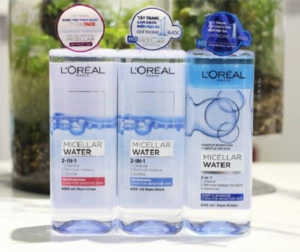 Nên sử dụng nước tẩy trang L'Oreal 3 In 1 Micellar không? Sử dụng nước tẩy trang L'Oreal 3 In 1 Micellar tốt cho da