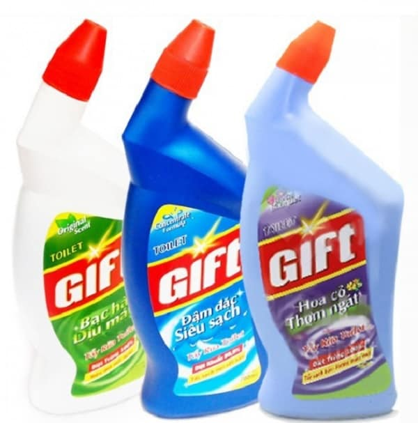 Nước tẩy bồn cầu tốt nhất hiện nay. Nước tẩy rửa bồn cầu Gift. Nước tẩy rửa bồn cầu