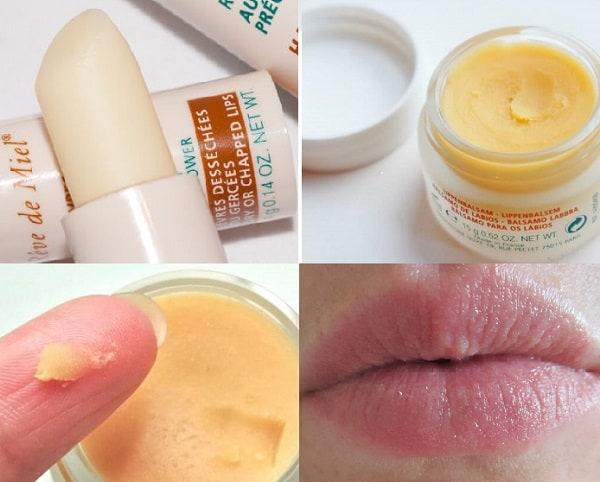 Review son dưỡng môi Nuxe reve de miel, chất son của Nuxe khi swatch lên môi