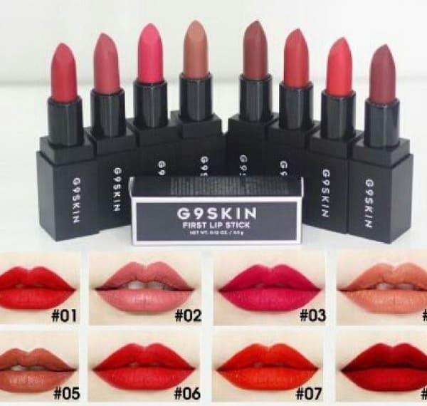 Son G9 SKin First Lipstick có đẹp không? Dòng son lì bền màu nhất. Son G9 SKin First Lipstick