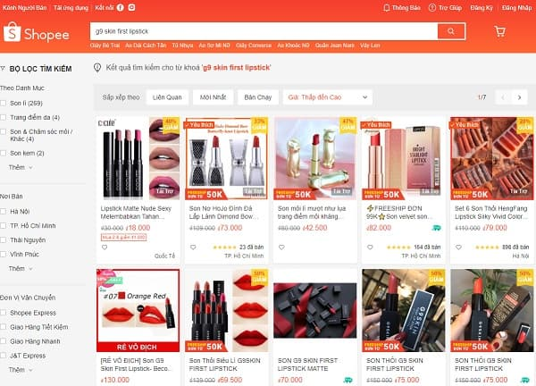Son G9 SKin First Lipstick có đẹp không? Nên mua son G9 SKin First Lipstick ở đâu giá rẻ? Mua son G9 SKin First Lipstick trên shopee
