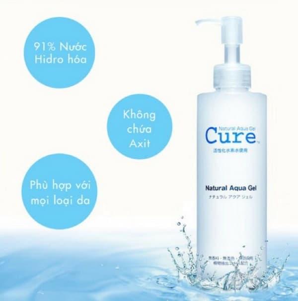 Tẩy da chết Cure Natural Aqua Gel có tốt không: Thành phần cấu tạo nên sản phẩm vô cùng dịu nhẹ