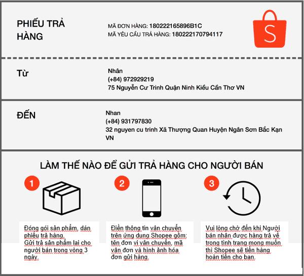 Trả hàng trên Shopee, các bước gửi trả hàng cho người bán