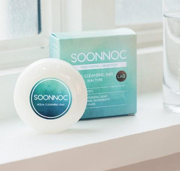 Xà phòng rửa mặt Soonnoc Aqua Cleansing Bar. Xà phòng rửa mặt tốt nhất hiện nay