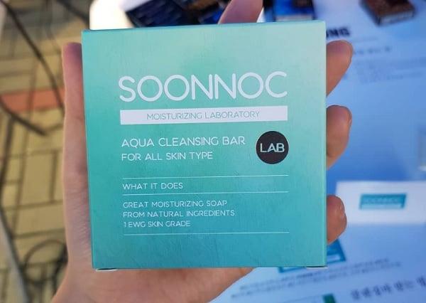 Mua xà phòng rửa mặt Soonnoc Aqua Cleansing Bar ở đâu chính hãng? Xà phòng rửa mặt Soonnoc Aqua Cleansing Bar