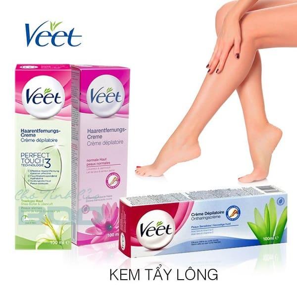 Đánh giá kem tẩy lông Veet: Review công dụng của kem tẩy lông Veet