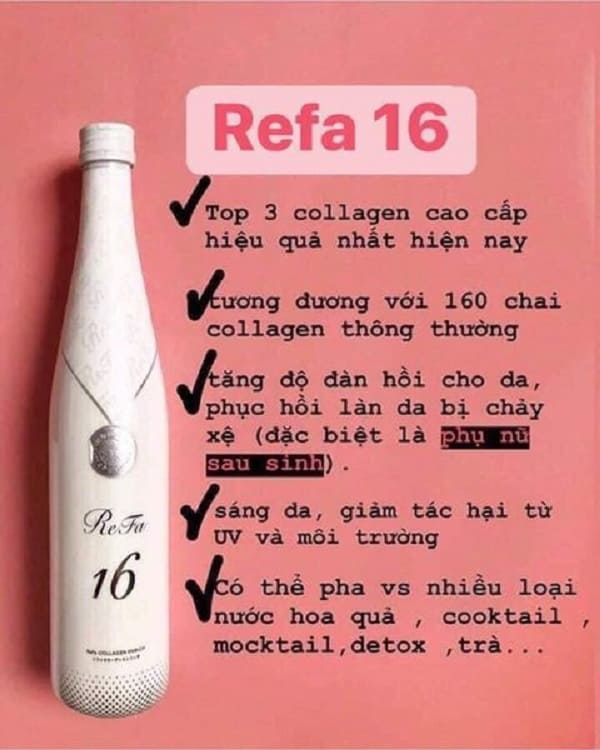 Review collagen Refa 16 Enricher có tốt không? Đánh giá công dụng của collagen Refa 16 Enricher