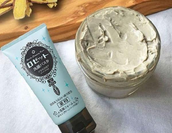 Nên dùng sữa rửa mặt nào cho da mụn. Sữa rửa mặt Rosette Face Wash Pasta Acne Clear. Sữa rửa mặt Rosette Nhật
