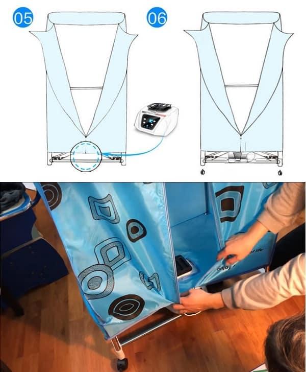 Cách lắp tủ sấy quần áo Samsung chi tiết