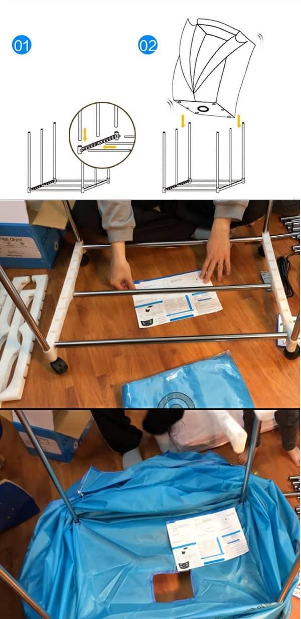 Hướng dẫn cách lắp tủ sấy quần áo Samsung