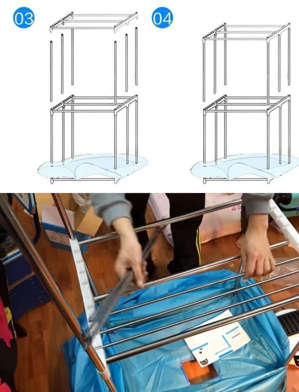 Hướng dẫn sử dụng, tháo lắp tủ sấy quần áo Samsung