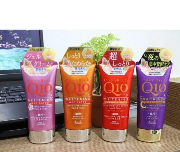 Review kem dưỡng da tay Q10 Nhật Bản có tốt không: Kem dưỡng da tay Q10 của thương hiệu Kose nổi tiếng ở Nhật Bản