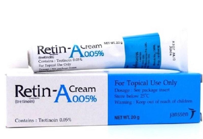 Kem trị mụn ẩn cho da mặt tốt nhất hiện nay. Review kem trị mụn ẩn tốt. Kem trị mụn ẩn Retin A Cream