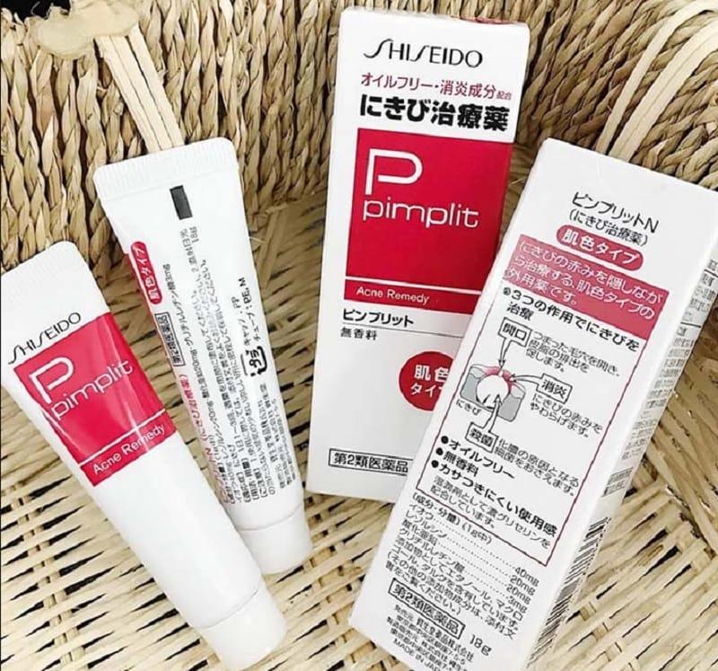 Kem trị mụn ẩn cho da mặt tốt nhất hiện nay. Kem trị mụn ẩn giá tốt. Kem trị mụn ẩn Shiseido Pimplit Acne Remedy