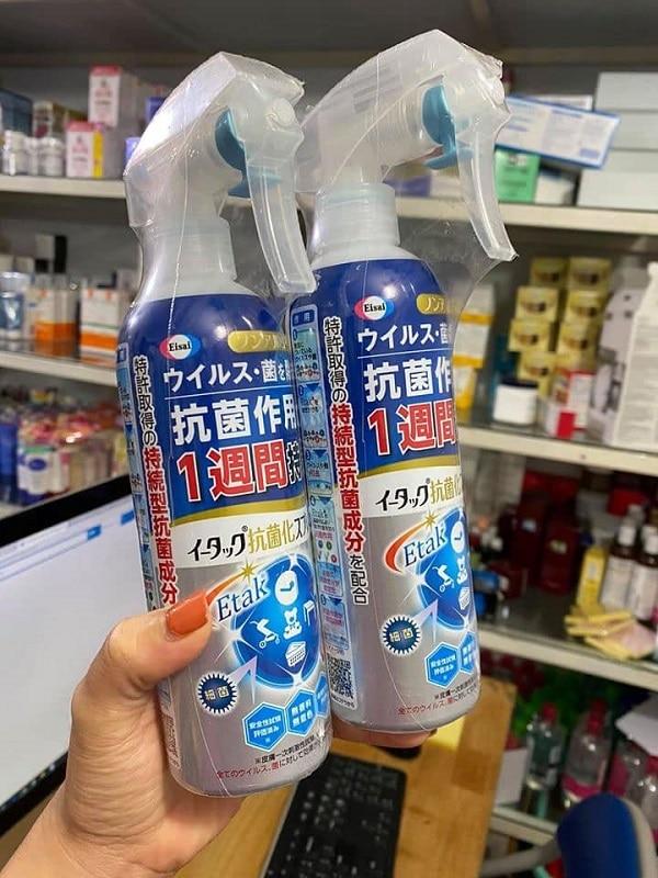 TOP 3 xịt kháng khuẩn phòng ngừa virut Corona, diệt khuẩn 99% tốt nhất hiện nay: Xịt kháng khuẩn Etak của Nhật