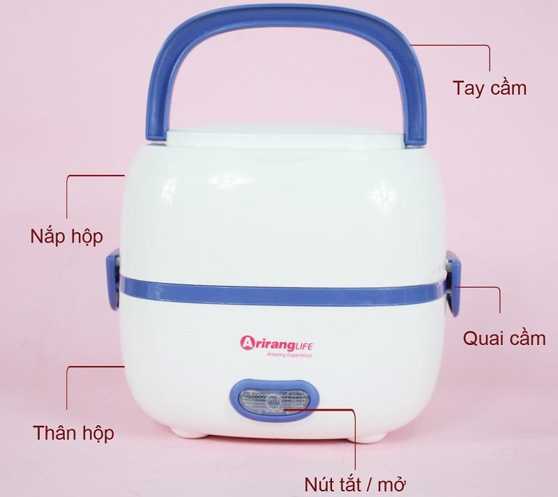 Đánh giá hộp cơm cắm điện loại nào tốt? Hộp cơm cắm điện Arirang Life EL - ALS2012