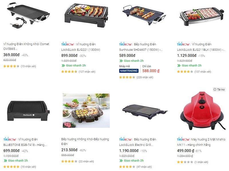 Review 4 vỉ nướng điện giá dưới 1 triệu. Nên mua bếp nướng không khói ở đâu?