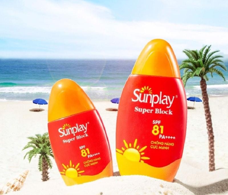 Review kem chống nắng Sunplay Super Block SPF 81. Kem chống nắng cho da dầu
