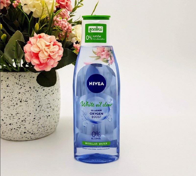 Nước tẩy trang dành cho da dầu mụn tốt nhất. Nước tẩy trang cho da dầu mụn không cồn. Nước tẩy trang NIVEA White Oil Clear Micellar Water