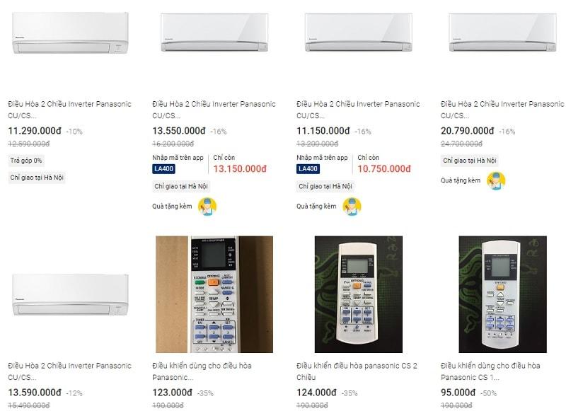 Top 4 điều hòa Panasonic 2 chiều giá tốt nhất hiện nay. Điều hòa 2 chiều Panasonic.