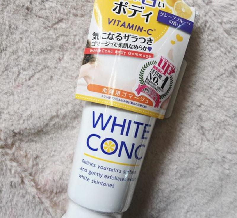Tẩy da chết toàn thân WHITE CONC BODY GOMMAGE II. Top 4 sản phẩm tẩy tế bào chết body tốt nhất