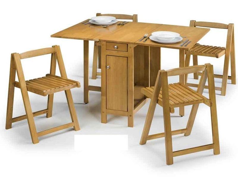 Bàn ăn thông minh bằng gỗ gấp gọn