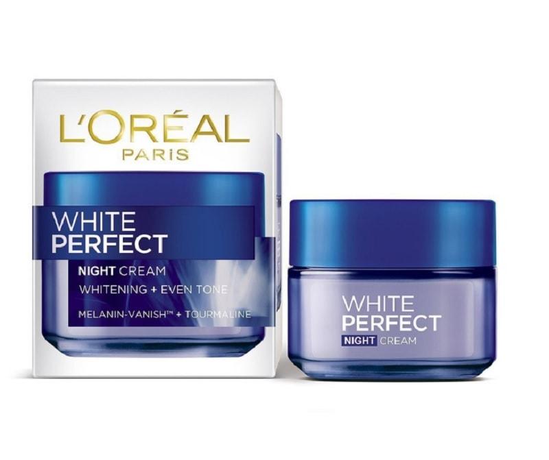 Kem dưỡng trắng da mặt ban đêm tốt nhất hiện nay. Kem dưỡng trắng da mặt ban đêm L'Oreal White Perfect Night Cream