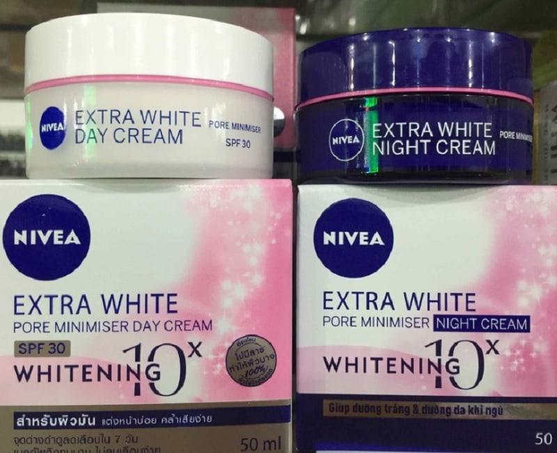 Kem dưỡng trắng da mặt giá dưới 100K. Kem dưỡng trắng da mặt Nivea