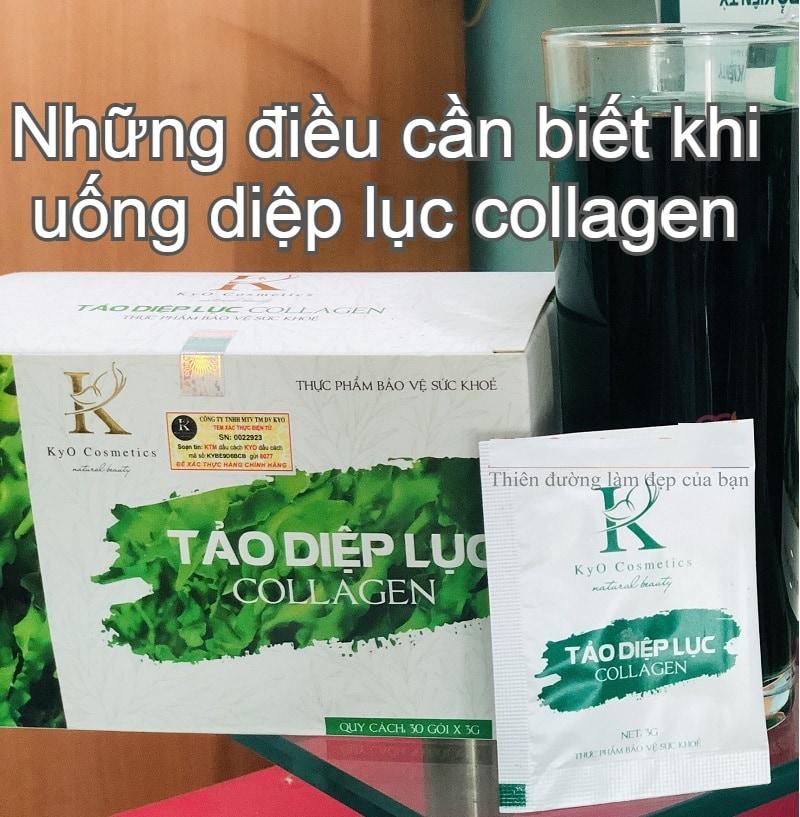 Có nên uống diệp lục collagen hay không? Collagen diệp lục có tác dụng gì, có tốt không, review?