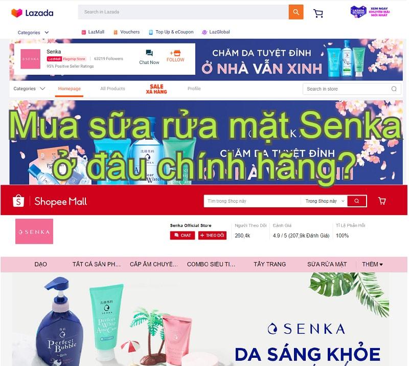 Mua sữa rửa mặt Senka ở đâu chính hãng?