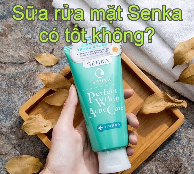 Review sữa rửa mặt Senka cho da mụn. Sữa rửa mặt Senka có tốt không?