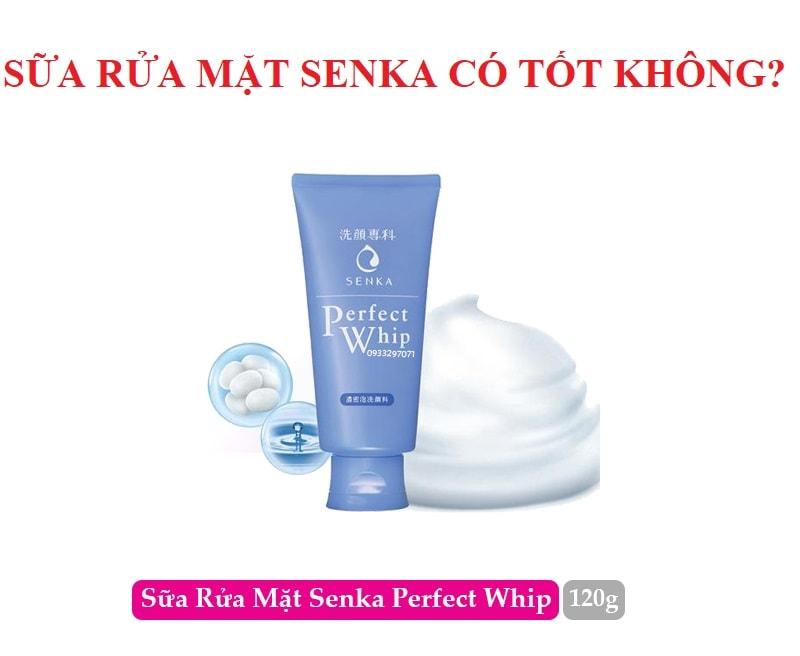 Sữa rửa mặt Senka có tốt không, giá bao nhiêu? Review sữa rửa mặt Senka màu xanh dương Perfect Whip