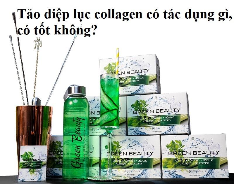 Uống tảo diệp lục collagen có tác dụng gì, có tốt không? Review tảo diệp lục collagen