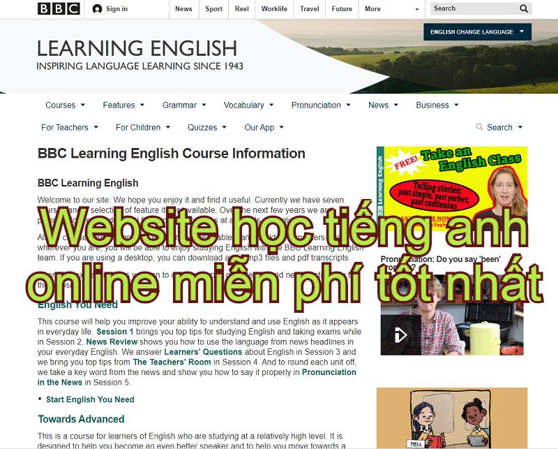 Website học tiếng anh online miễn phí tốt nhất hiện nay